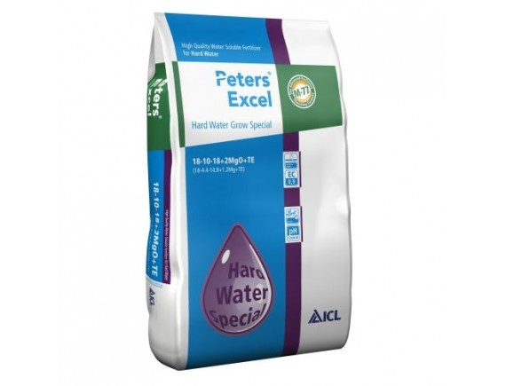 Ingrasamant hidrosolubil Peters Excel 18+10+18+2MgO+me Hard Water Grow 15 kg