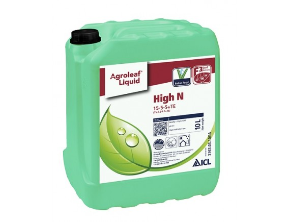 Ingrasamant foliar cu azot Agroleaf Liquid High N 15-5-5+me 10 l
